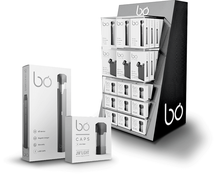 BŌ Vaping Product boxes